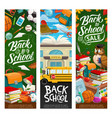 welcome back to school stationery sale vector image