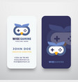 wise gaming abstract sign or logo and vector image
