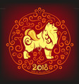 yellow dog happy chinese new year 2017 vector image vector image