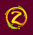 Z letter monogram design elements vector image vector image