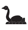 carnival swan ride silhouette vector image