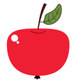 Cute beautiful red apple isolated on white vector image