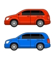 Universal Different Color Car Set vector image