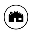 black house silhouette vector image