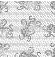 Detailed seamless pattern with octopus vector image