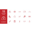 15 element icons vector image vector image