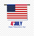 4th of july - abstract flag design - independence vector image