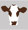 a portrait of a cow vector image vector image