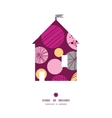 abstract textured bubbles house silhouette pattern vector image vector image