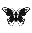 Admiral butterfly icon simple style vector image