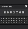 airport flight departure destination usa houston vector image vector image