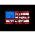 american text flag - land free home the vector image vector image