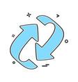 arrows icon design vector image vector image