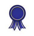 awarg medal with ribbons template for winner vector image