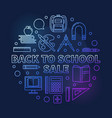 back to school sale round colorful linear vector image vector image