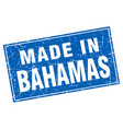 bahamas blue square grunge made in stamp vector image vector image