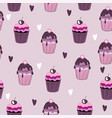 Beautiful yummy cupcake seamless background