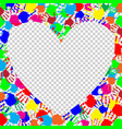 bright heart frame with space for text and vector image