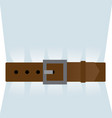 brown leather belt tightened vector image