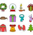 Celebratory items vector image vector image