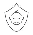 children insurance thin line icon kids and care vector image