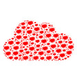 cloud composition of boom bang icons vector image