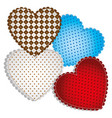 Colored figures heart icon vector image