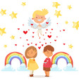 coupidone connects kids hearts vector image