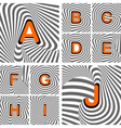 Design alphabet letters from A to J vector image vector image