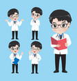 doctor show a variety gestures and actions in vector image vector image