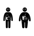 fat and thin man icons normal weight and vector image vector image