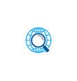 find globe logo icon design vector image vector image