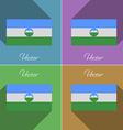 Flags KabardinoBalkaria Set of colors flat design vector image