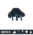 Forest icon flat vector image