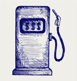 Gas station pump vector image vector image