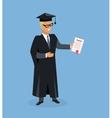 Happy Man after Graduation vector image vector image