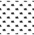 Hat with feather pattern simple style vector image vector image