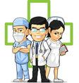 Health Care or Medical Staff Doctor Nurse Surgeon vector image vector image