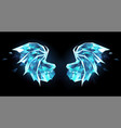 ice dragon wings vector image vector image