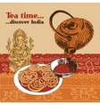 Indian teapot and cup vector image