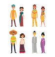 international group of peoples male and female vector image vector image