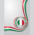 italian flag wavy background vector image vector image