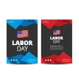 Labor day leaflet vector image vector image