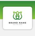 leaf logo design inspiration vector image vector image