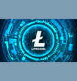 litecoin abstract technology background vector image vector image