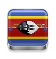 Metal icon of Swaziland vector image vector image