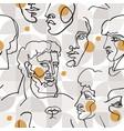 modern linear art seamless pattern vector image