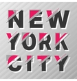 New York vintage poster vector image vector image