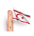 northern cyprus flag vector image vector image
