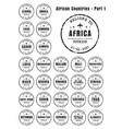 old worn stamps with the name of the african vector image vector image